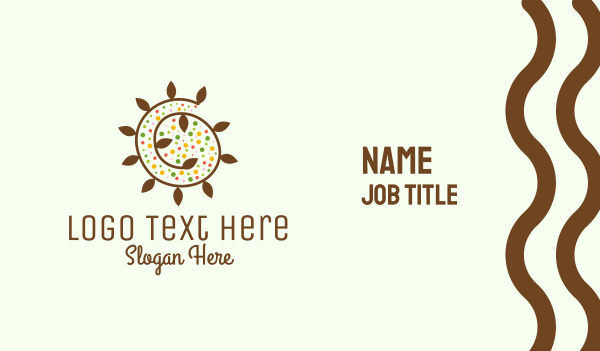 biological - Natural Organic Swirl Business card horizontal design