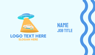 Alien Car UFO Business Card