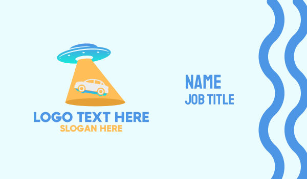 extraterrestrial - Alien Car UFO Business card horizontal design