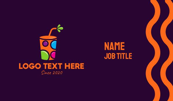 circles - Colorful Reusable Drink Cup Business card horizontal design