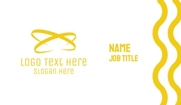 high end - Golden  Atom Business card horizontal design
