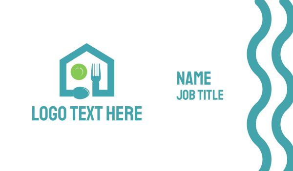 plate - Food Restaurant House Business card horizontal design
