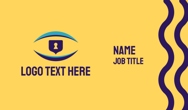 private eye - Vision Security Business card horizontal design