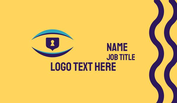 blocks - Vision Security Business card horizontal design