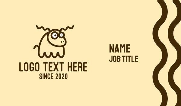 deer horns - Confused Deer Character Business card horizontal design