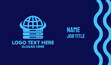 Blue Global Server Business Card