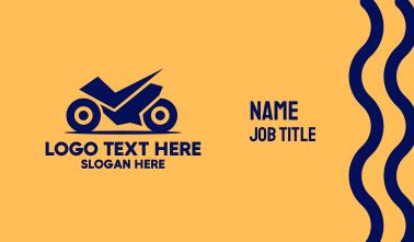 Blue Motor Racing Business Card