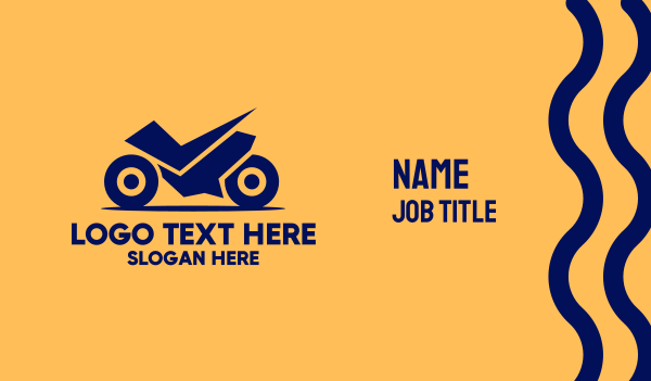 motor repair - Blue Motor Racing Business card horizontal design