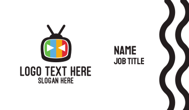 Robot & Tv Business Card