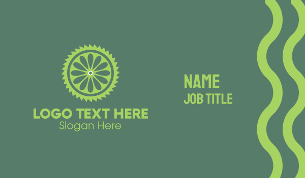 citric - Lime Slice Business card horizontal design