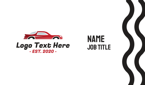 autoparts - Red Fast Automotive Car Business card horizontal design