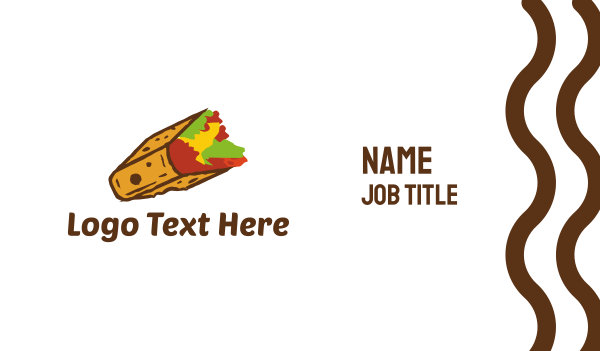 taqueria - Square Taco Business card horizontal design