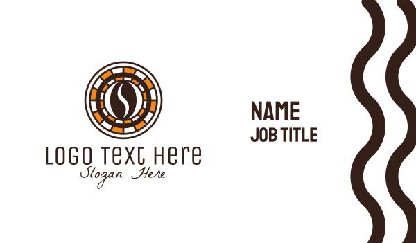 poker - Coffee Bean Cafe Business card horizontal design