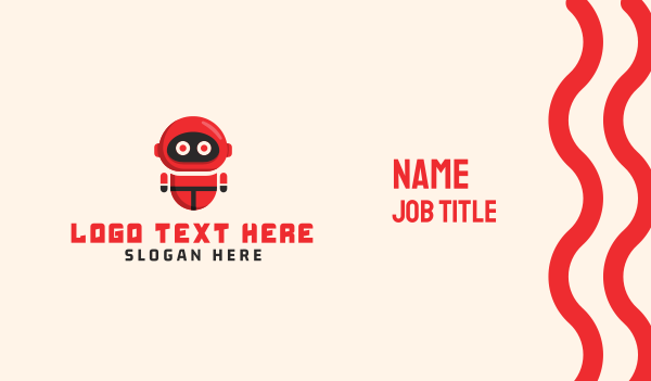 animation - Red Robot Business card horizontal design