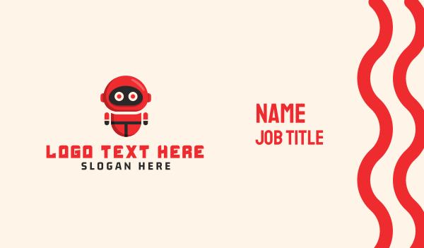 robot - Red Robot Business card horizontal design