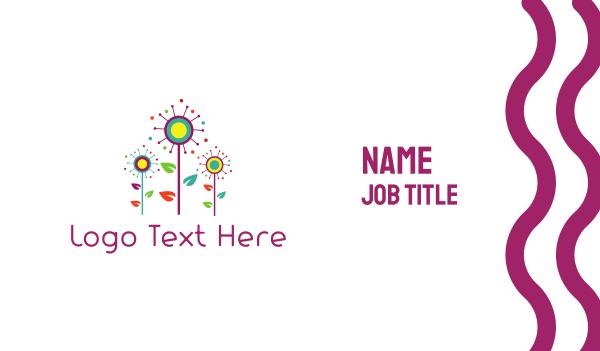 sanctuary - Colorful Garden Business card horizontal design