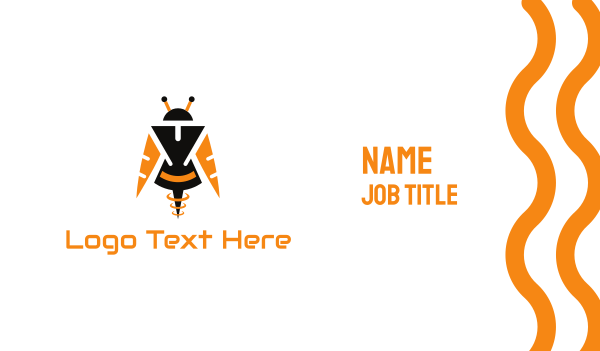 martian - Bee Android Business card horizontal design