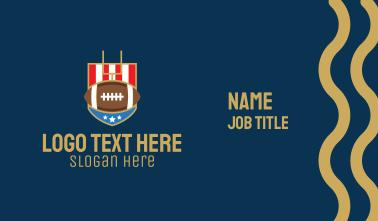 American Football Gridiron Business Card