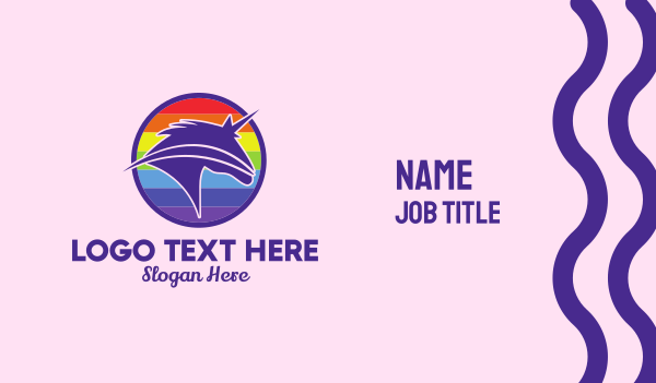 bisexual - Unicorn Gender Equality Business card horizontal design