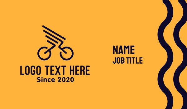 bike parts - Bike Wings Business card horizontal design