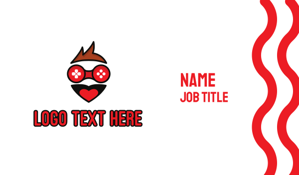 emoticon - Happy Boy Gaming Business card horizontal design