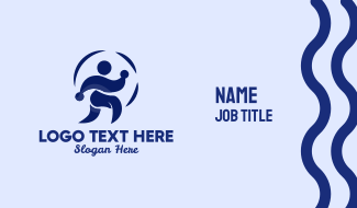 Person Jogging Exercise  Business Card