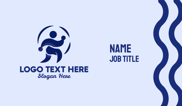 chiropractic - Person Jogging Exercise  Business card horizontal design