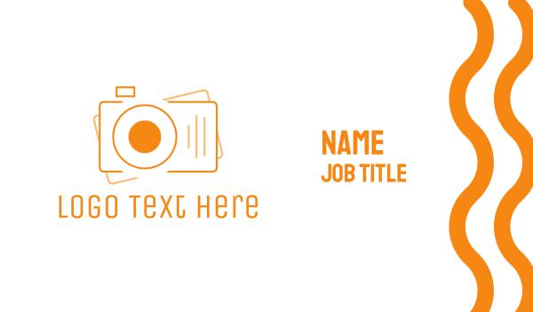 camcorder - Digital Camera Photography Business card horizontal design