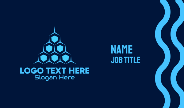 beehive - Blue Honeycomb Tech Business card horizontal design