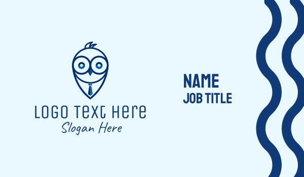 wisdom - Watch Owl Recruitment Business card horizontal design