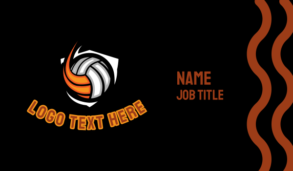 water polo - Volleyball Ball Business card horizontal design