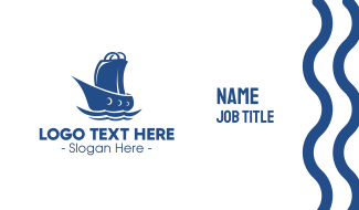 Marine Shopping Store Business Card