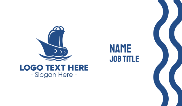 sell - Marine Shopping Store Business card horizontal design