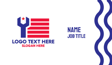 Patriotic Wrench Business Card