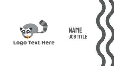 Cute Raccoon Business Card