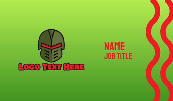 special forces - Esports Gaming Warrior Helmet Business card horizontal design