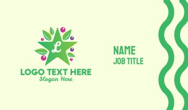 Star Berry Lettermark Business Card