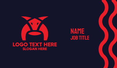 Abstract Bull Business Card
