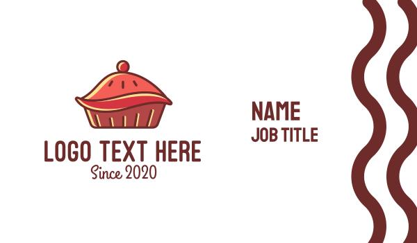 pie - Cherry Pie  Business card horizontal design