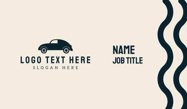 cab - Vintage Automotive Car Business card horizontal design