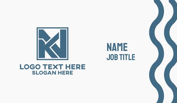 Monogram K & N Business Card
