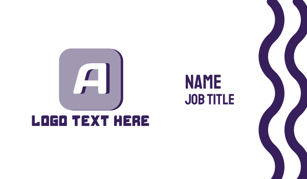 tech - Tech Letter A Business card horizontal design