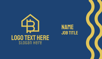 Bitcoin Home  Business Card
