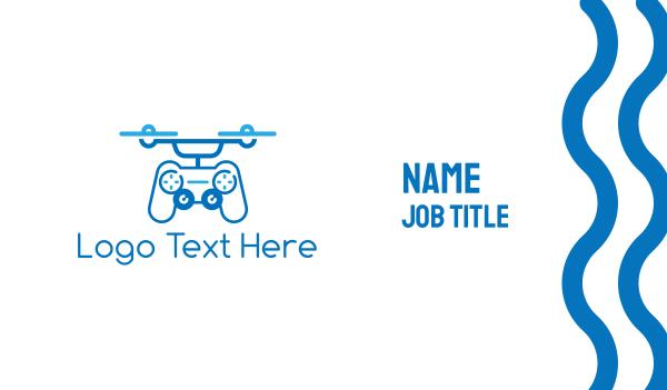 drone pilot - Controller Drone Business card horizontal design