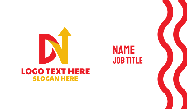 forwarding company - Red Yellow DN Arrow Business card horizontal design