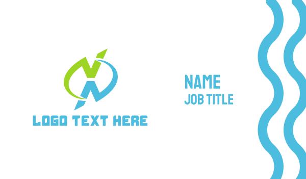 extreme - Modern X Business card horizontal design