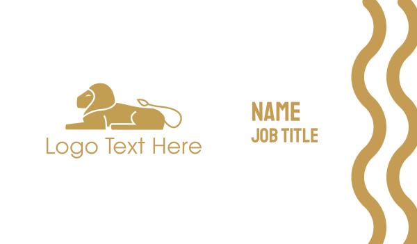 vip - Golden Lion Business card horizontal design