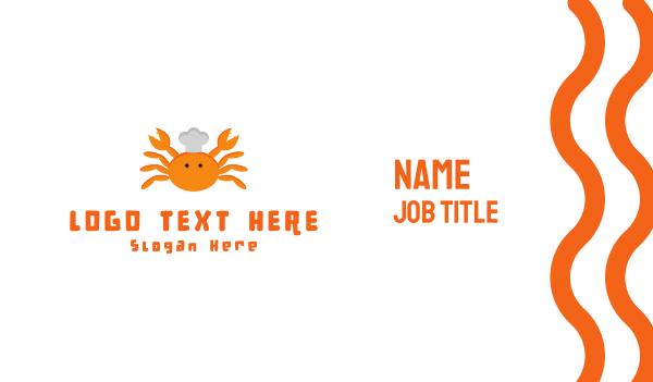 shell - Crab Chef Business card horizontal design
