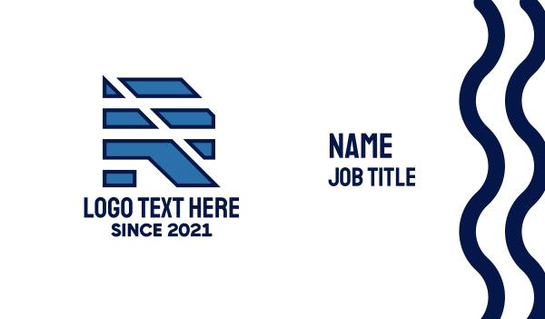 manufacturing - Modern Letter R Business card horizontal design