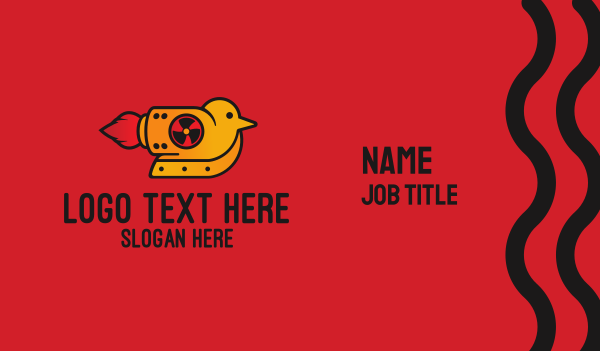 rocket - Rocket Powered Bird Business card horizontal design